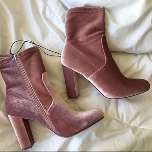 NWT pink ankle booties!